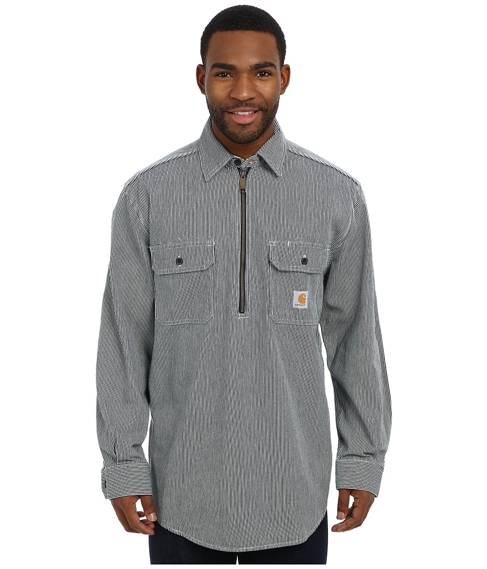 Carhartt - Hickory Stripe Shirt (Hickory Stripe) Men's Long Sleeve Pullover