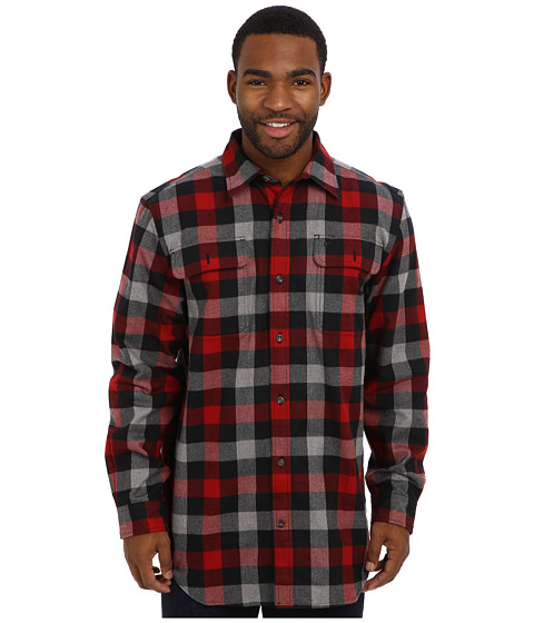 Carhartt - Hubbard Plaid Shirt (Dark Heather Gray) Men