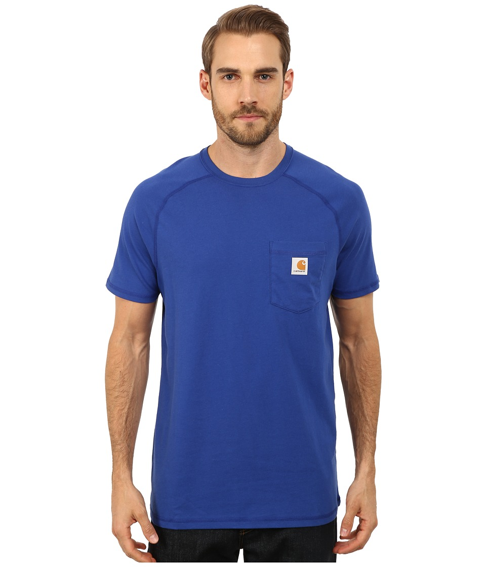 Carhartt - Force Cotton S/S T-Shirt (Nautical Blue) Men's Short Sleeve Pullover