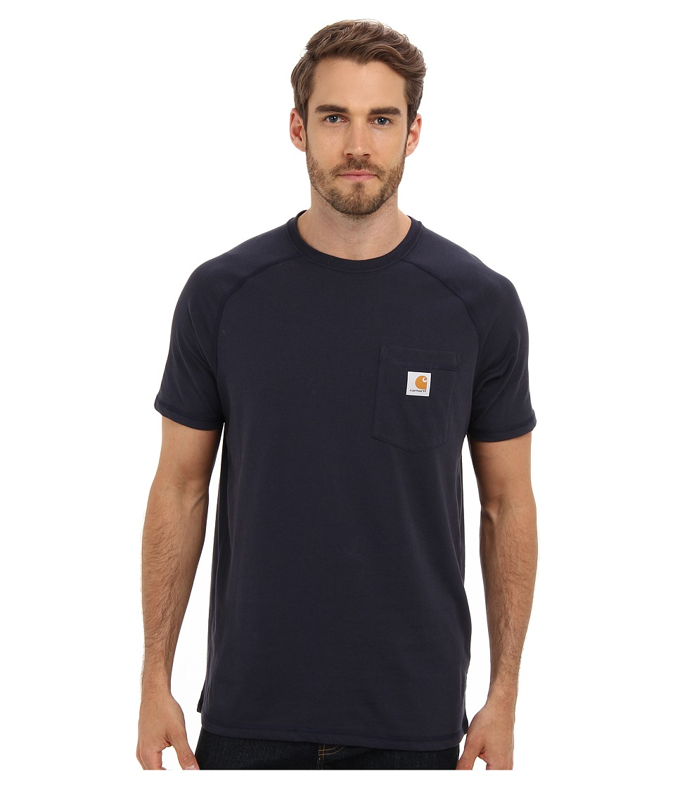 Carhartt - Force Cotton S/S T-Shirt (Navy) Men's Short Sleeve Pullover