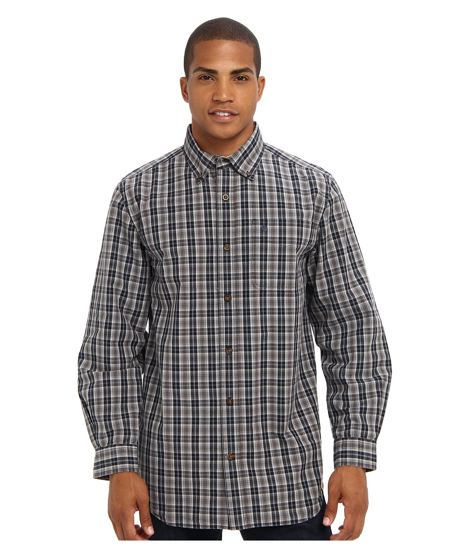 Carhartt - Bellevue L/S Shirt (Navy) Men's Clothing
