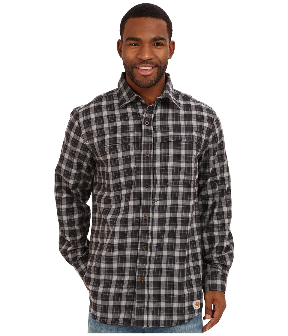 Carhartt - Force Reydell Long Sleeve Shirt (Black) Men's Clothing