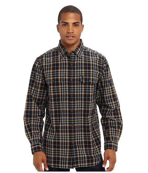 Carhartt - Fort Plaid Long Sleeve Shirt (Navy) Men's Long Sleeve Button Up