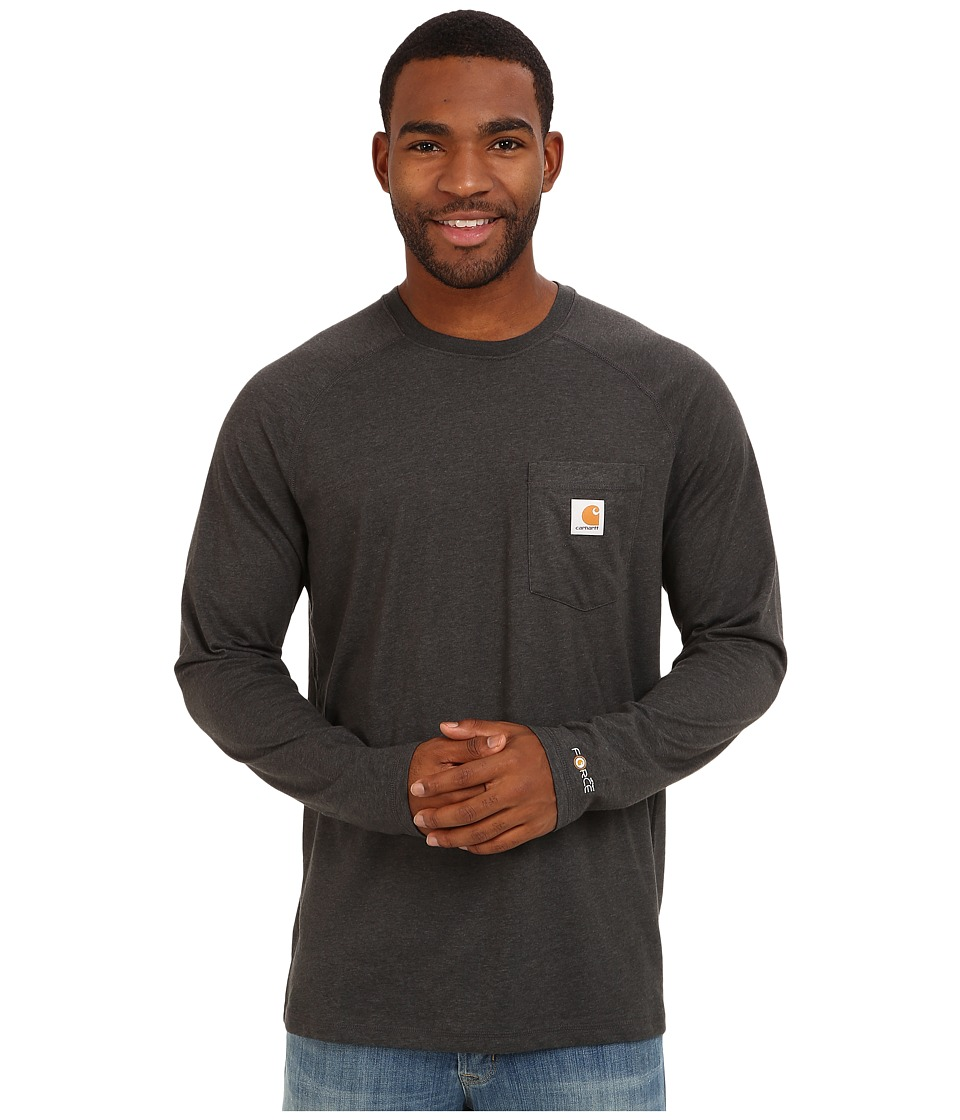 Carhartt - Force Cotton Delmont Long-Sleeve T-Shirt (Carbon Heather) Men's T Shirt