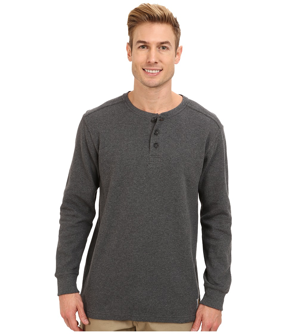 Carhartt - Textured Knit Henley (Carbon Heather) Men's T Shirt