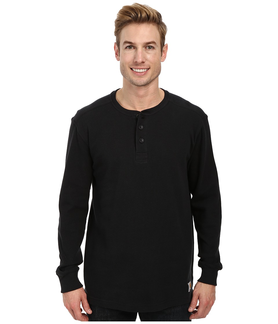 Carhartt - Textured Knit Henley (Black) Men