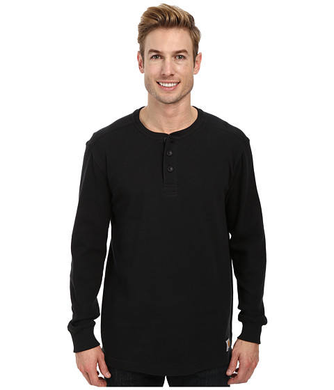 Carhartt - Textured Knit Henley (Black) Men's T Shirt