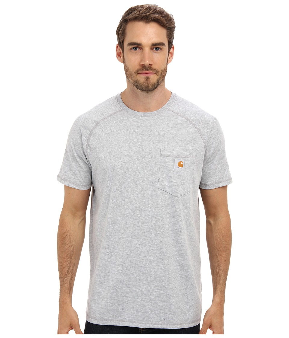 Carhartt - Force Cotton Delmont Short-Sleeve T-Shirt (Heather Gray) Men's Short Sleeve Pullover