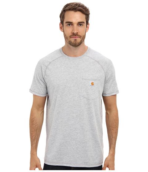 Carhartt - Force Cotton S/S T-Shirt (Heather Gray) Men's Short Sleeve Pullover