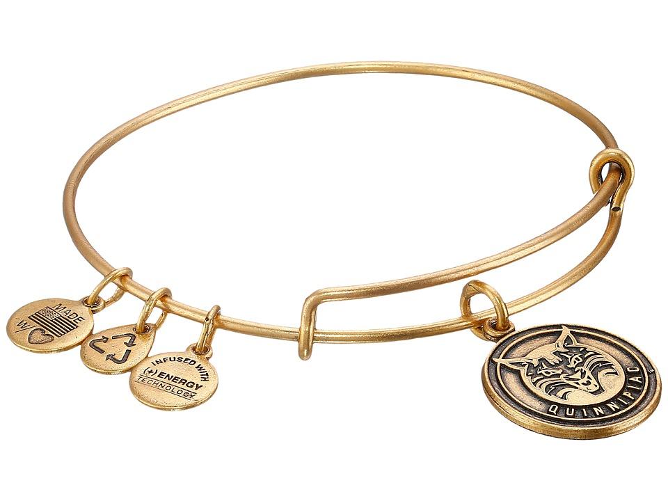 Alex and Ani - Quinnipiac University Mascot Charm Bangle (Rafaelian Gold Finish) Bracelet