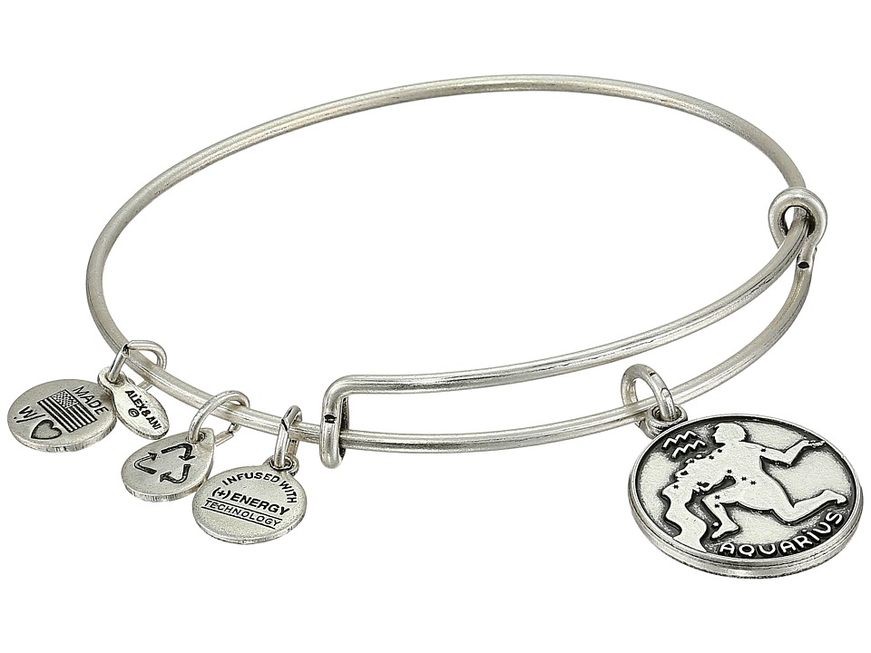 Alex and Ani - Aquarius II (Rafaelian Silver Finish) Bracelet