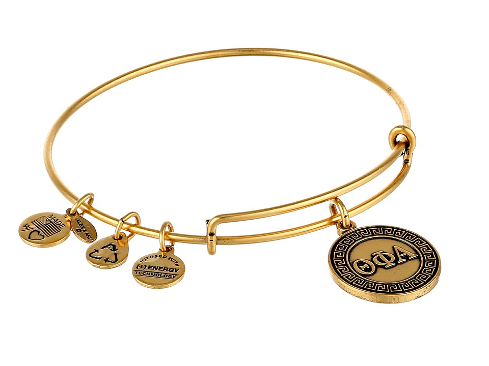 Alex and Ani - Theta Phi Alpha Charm Bangle (Rafaelian Gold Finish) Bracelet