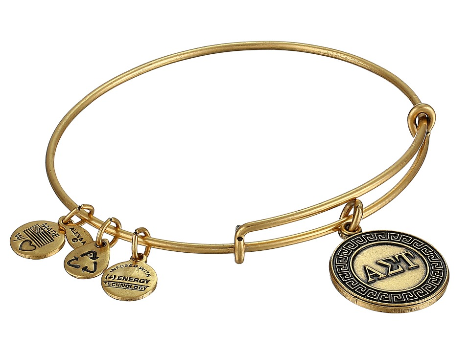 Alex and Ani - Alpha Sigma Tau Charm Bangle (Rafaelian Gold Finish) Bracelet