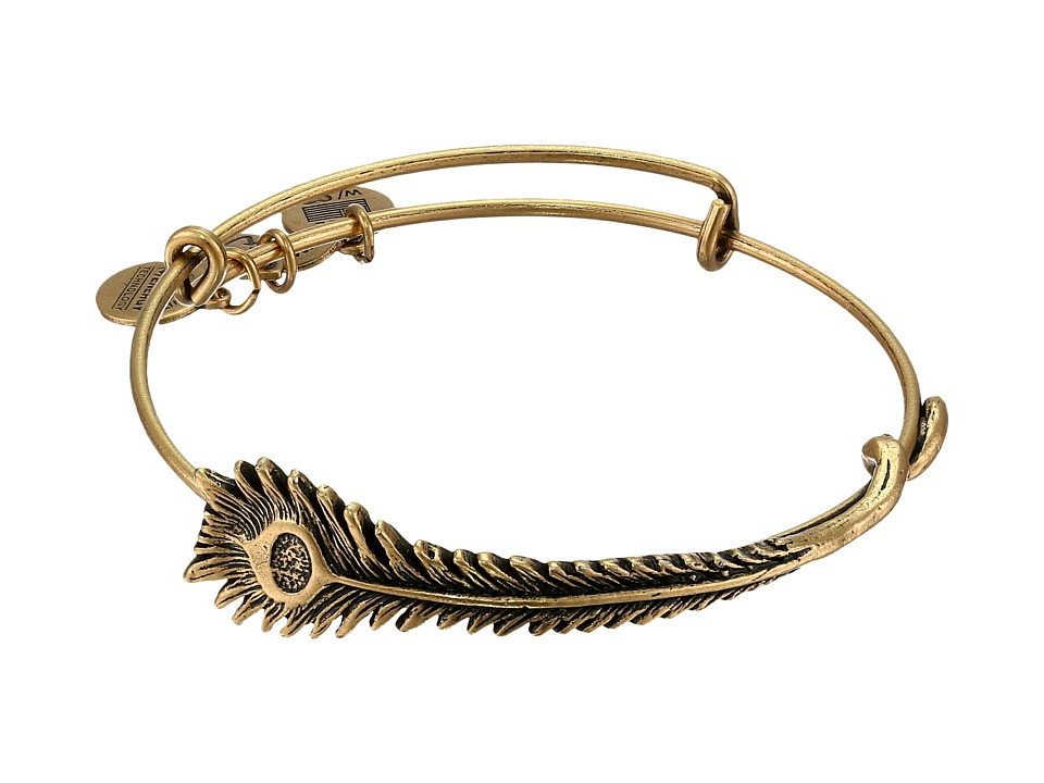 Alex and Ani - Peacock Feather Wrap (Rafaelian Gold Finish) Bracelet