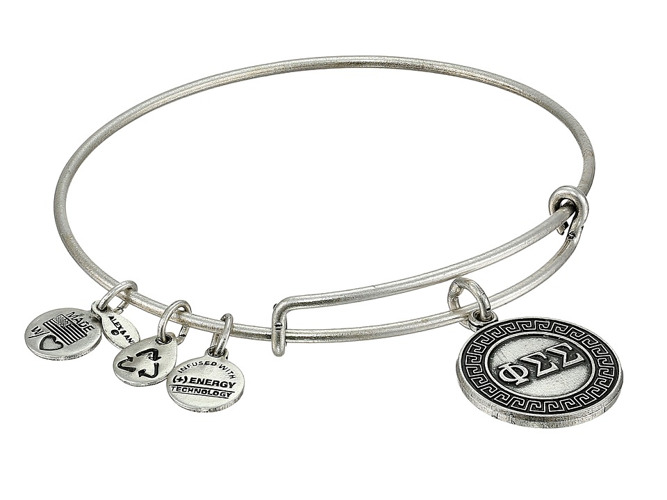 Alex and Ani - Phi Sigma Sigma Charm Bangle (Rafaelian Silver Finish) Bracelet