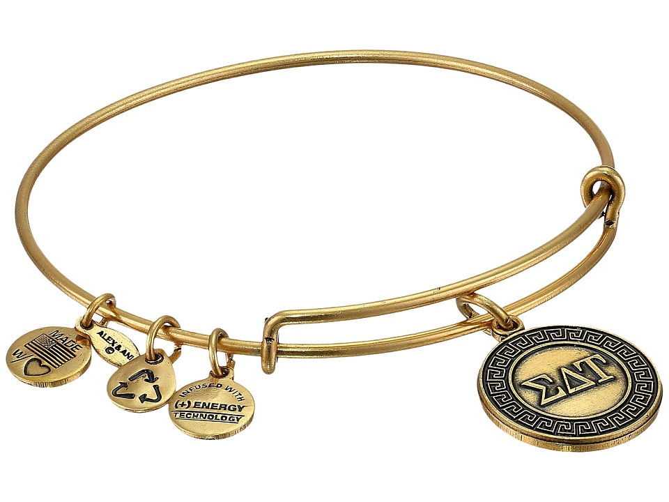 Alex and Ani - Sigma Delta Tau Charm Bangle (Rafaelian Gold Finish) Bracelet