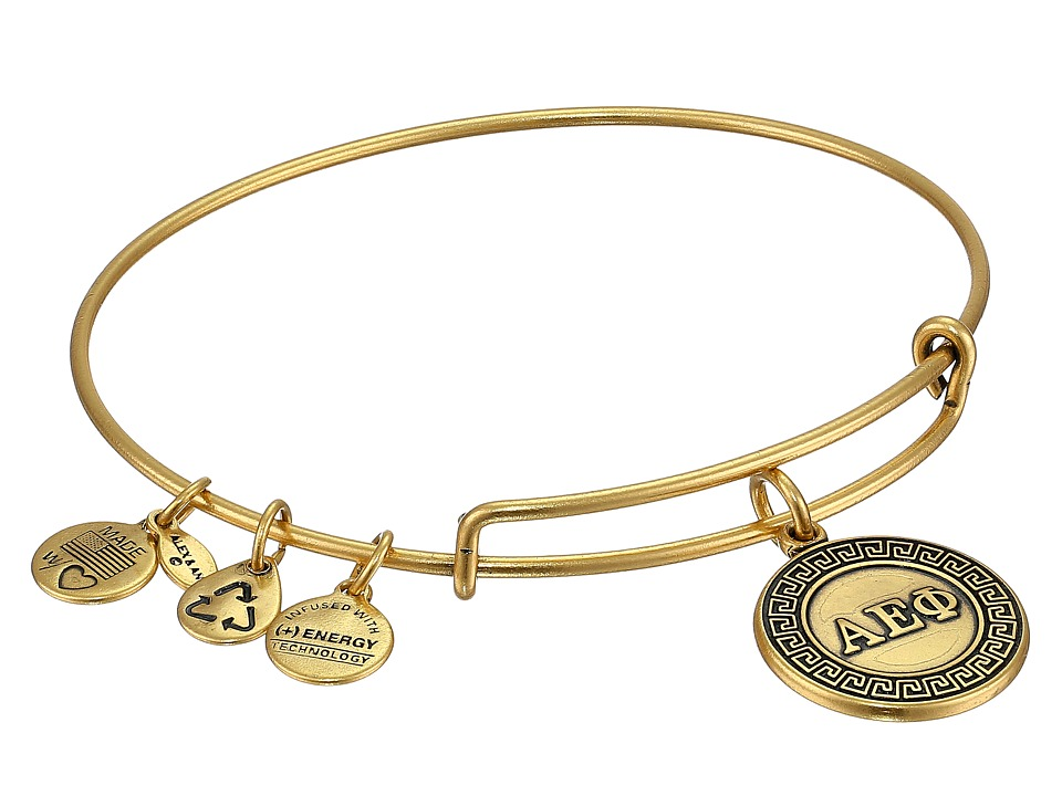 Alex and Ani - Alpha Epsilon Phi Charm Bangle (Rafaelian Gold Finish) Bracelet