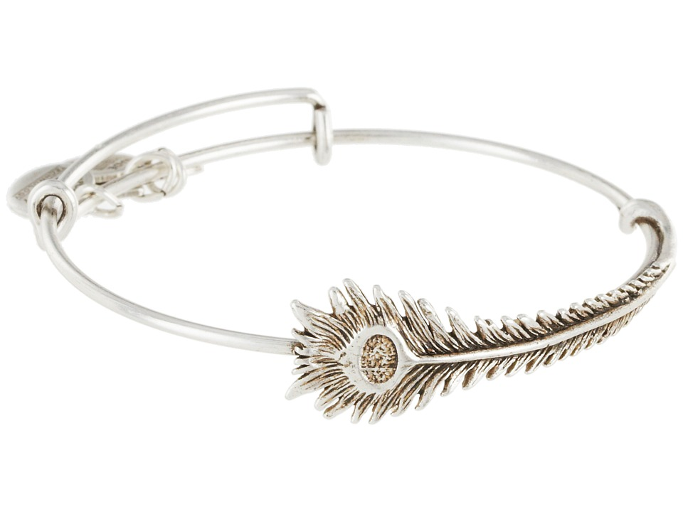 Alex and Ani - Peacock Feather Wrap (Rafaelian Silver Finish) Bracelet