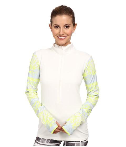 Nike - Pro Hyperwarm Nordic Half-Zip Top (Ivory/Volt/Volt) Women