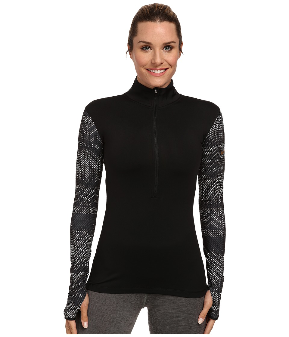 Nike - Pro Hyperwarm Nordic Half-Zip Top (Black/Metallic Gold) Women's Long Sleeve Pullover