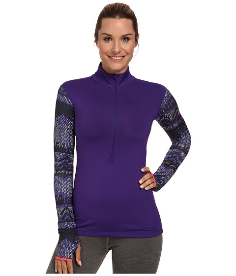 Nike - Pro Hyperwarm Nordic Half-Zip Top (Court Purple/Hyper Punch) Women's Long Sleeve Pullover