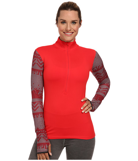 Nike - Pro Hyperwarm Nordic Half-Zip Top (Action Red/Action Red) Women's Long Sleeve Pullover