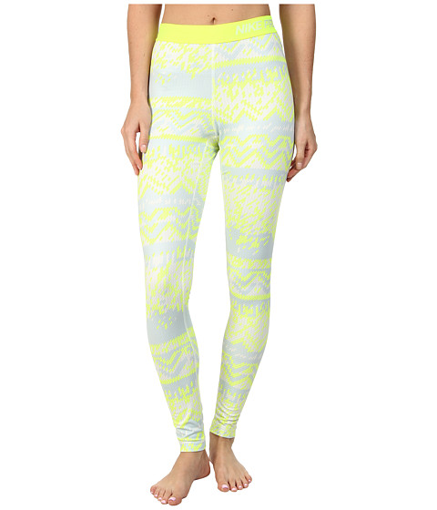 Nike - Pro Hyperwarm Nordic Tight (Ivory/Volt/Volt) Women