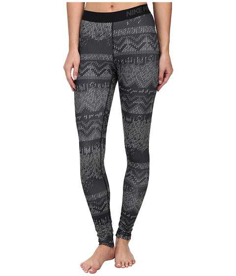 Nike - Pro Hyperwarm Nordic Tight (Black/Black/Metallic Gold) Women