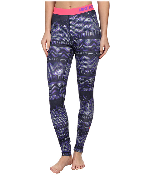 Nike - Pro Hyperwarm Nordic Tight (Obsidian/Hyper Punch/Hyper Punch) Women's Clothing