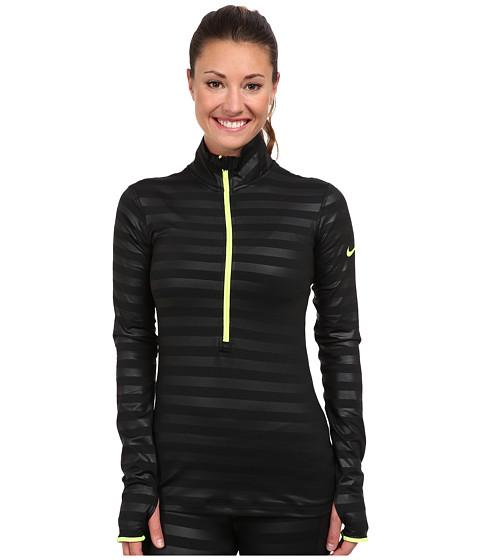 Nike - Pro Hypewarm Embossed Half-Zip (Black/Volt) Women