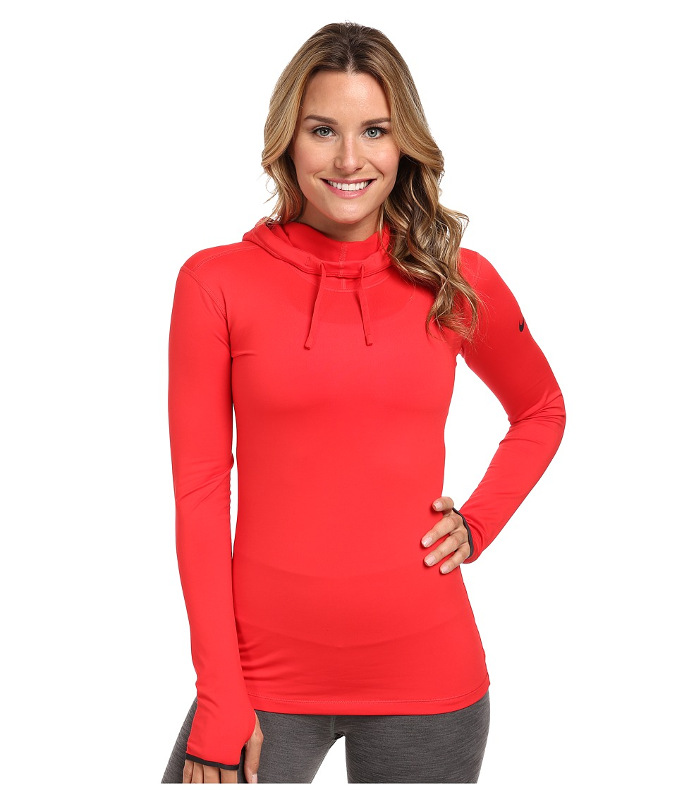 Nike - Pro Hyperwarm Hoodie (Action Red/Dark Ash) Women