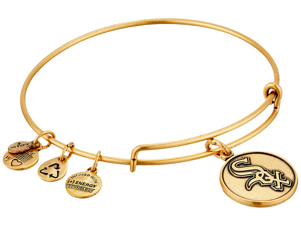 Alex and Ani - MLB Chicago White Sox Charm Bangle (Rafaelian Gold Finish) Bracelet