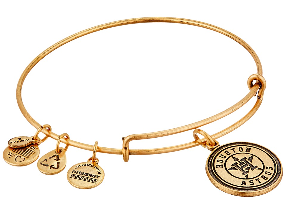Alex and Ani - MLB Houston Astros Charm Bangle (Rafaelian Gold Finish) Bracelet