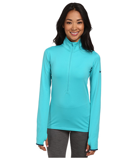 Nike - Pro Hyperwarm 1/2 Zip 3.0 (Dusty Cactus/Space Blue/Space Blue) Women's Workout