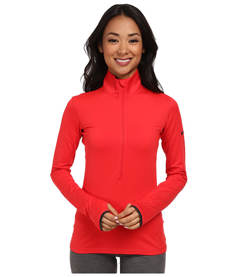 Nike - Pro Hyperwarm 1/2 Zip 3.0 (Action Red/Dark Ash/Dark Ash) Women