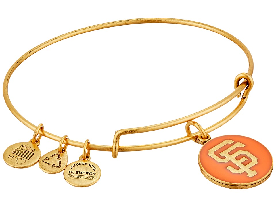 Alex and Ani - MLB San Francisco Giants Charm Bangle (Rafaelian Gold Finish/Orange Charm) Bracelet
