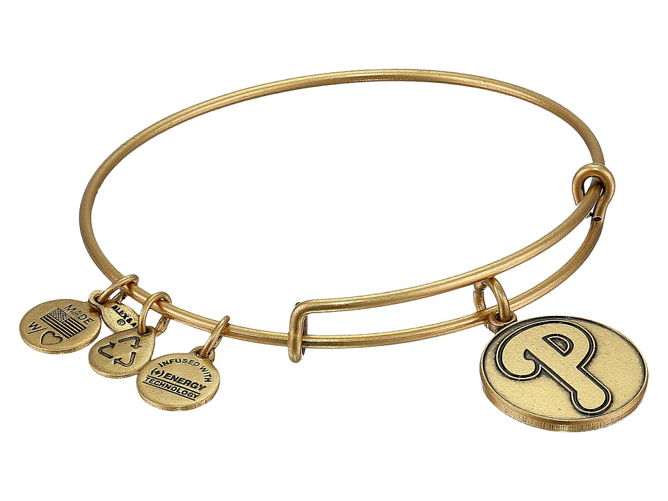 Alex and Ani - MLB Philadelphia Phillies Charm Bangle (Rafaelian Gold Finish) Bracelet