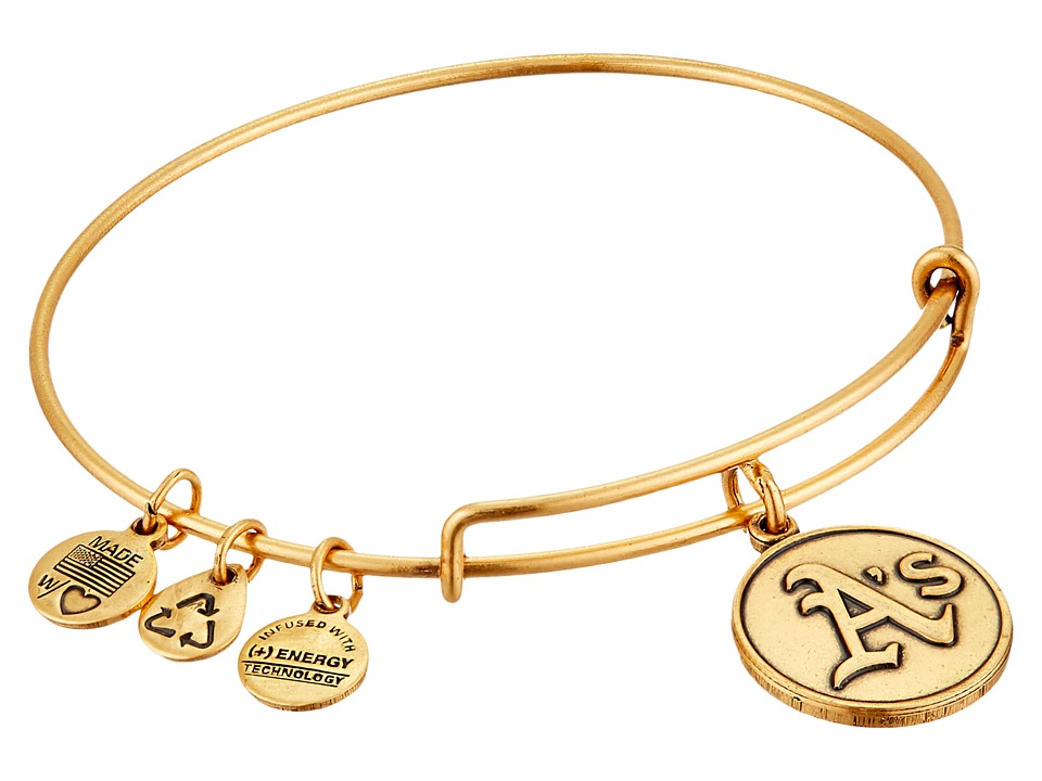 Alex and Ani - MLB Oakland Athletics Charm Bangle (Rafaelian Gold Finish) Bracelet