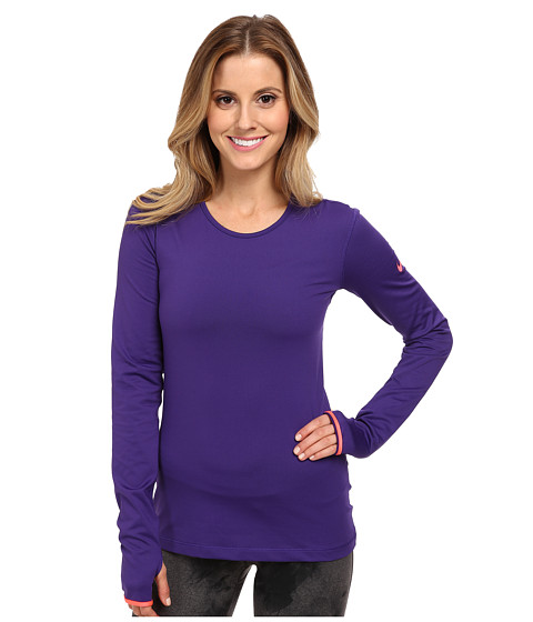 Nike - Pro Hyperwarm Crew 3.0 (Court Purple/Hyper Punch/Hyper Punch) Women