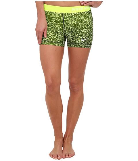 Nike - Pro Three-Inch Mezzo Short (Volt/Dark Ash/White) Women