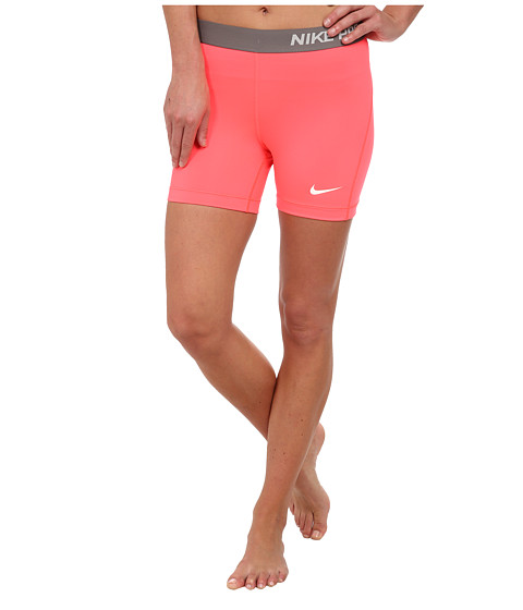 Nike - Pro Five-Inch Short (Hyper Punch/Ivory) Women's Shorts