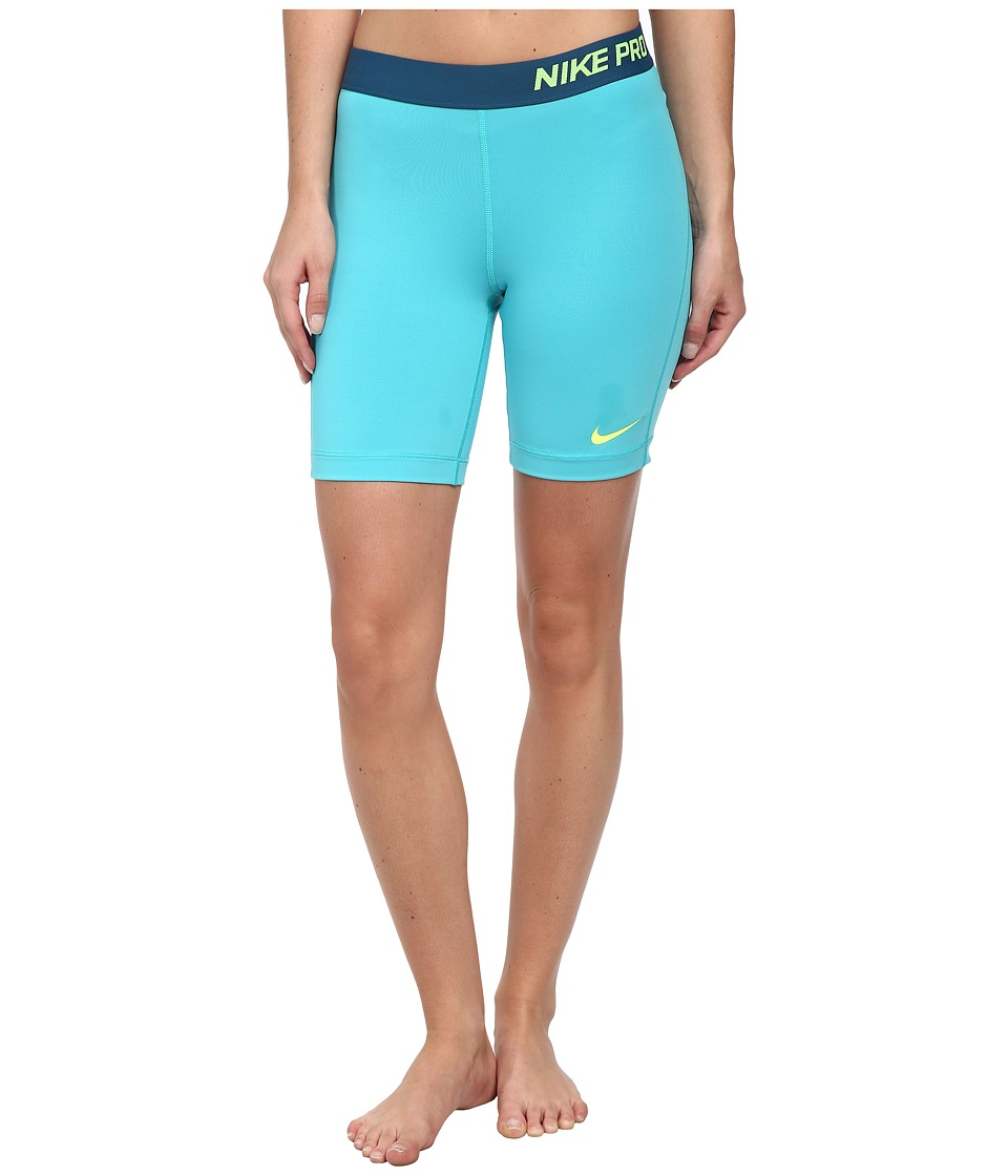Nike - Pro Seven-Inch Short (Dusty Cactus/Volt) Women's Shorts
