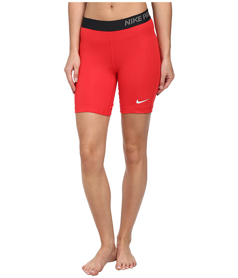 Nike - Pro Seven-Inch Short (Action Red/Light Ash Grey) Women