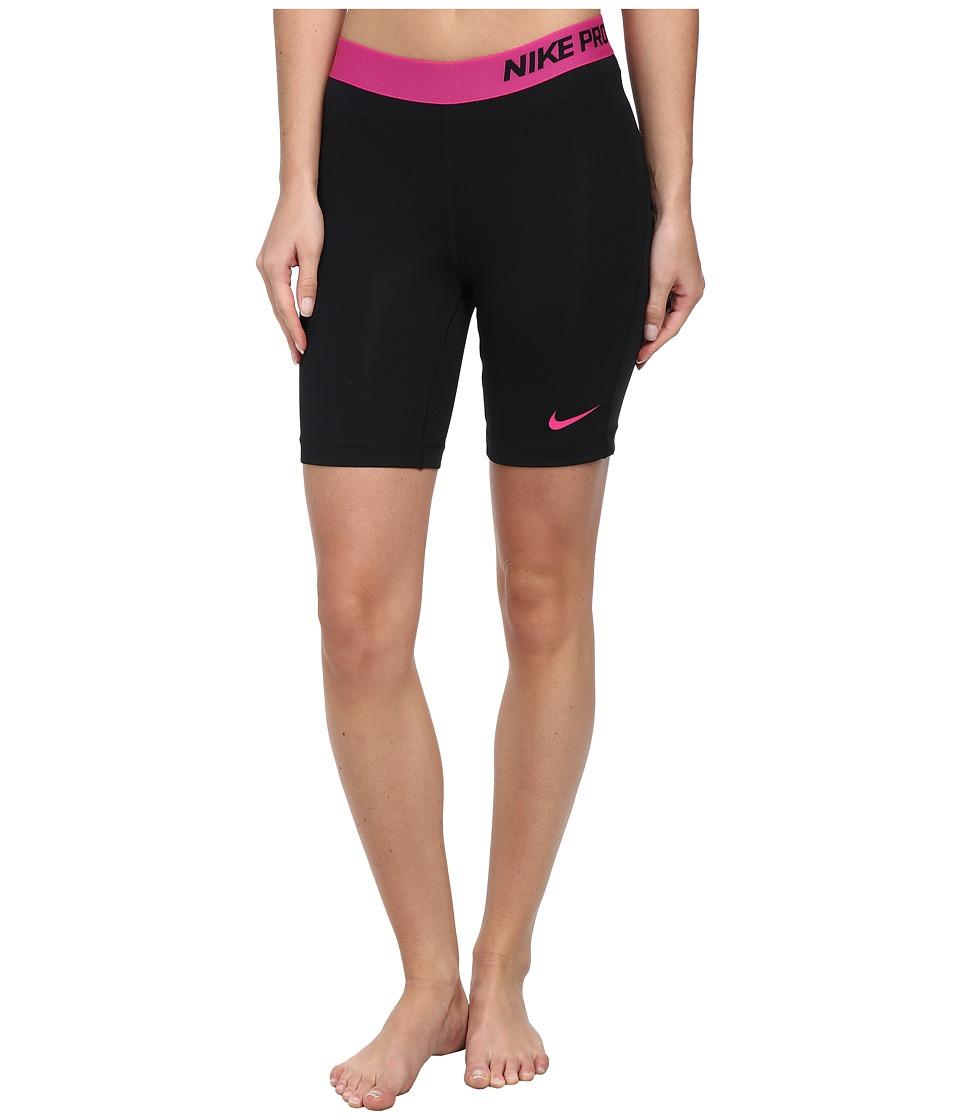 Nike - Pro Seven-Inch Short (Black/Vivid Pink) Women's Shorts