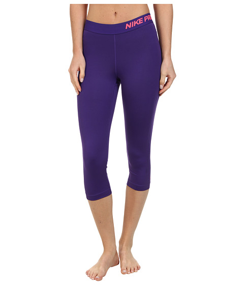 Nike - Pro Capri (Court Purple/Cave Purple/Hyper Punch) Women's Capri