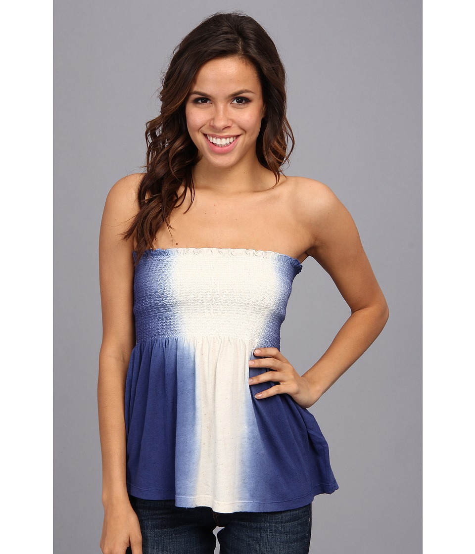Lucky Brand Miki Tube Top Womens Blouse (Blue)