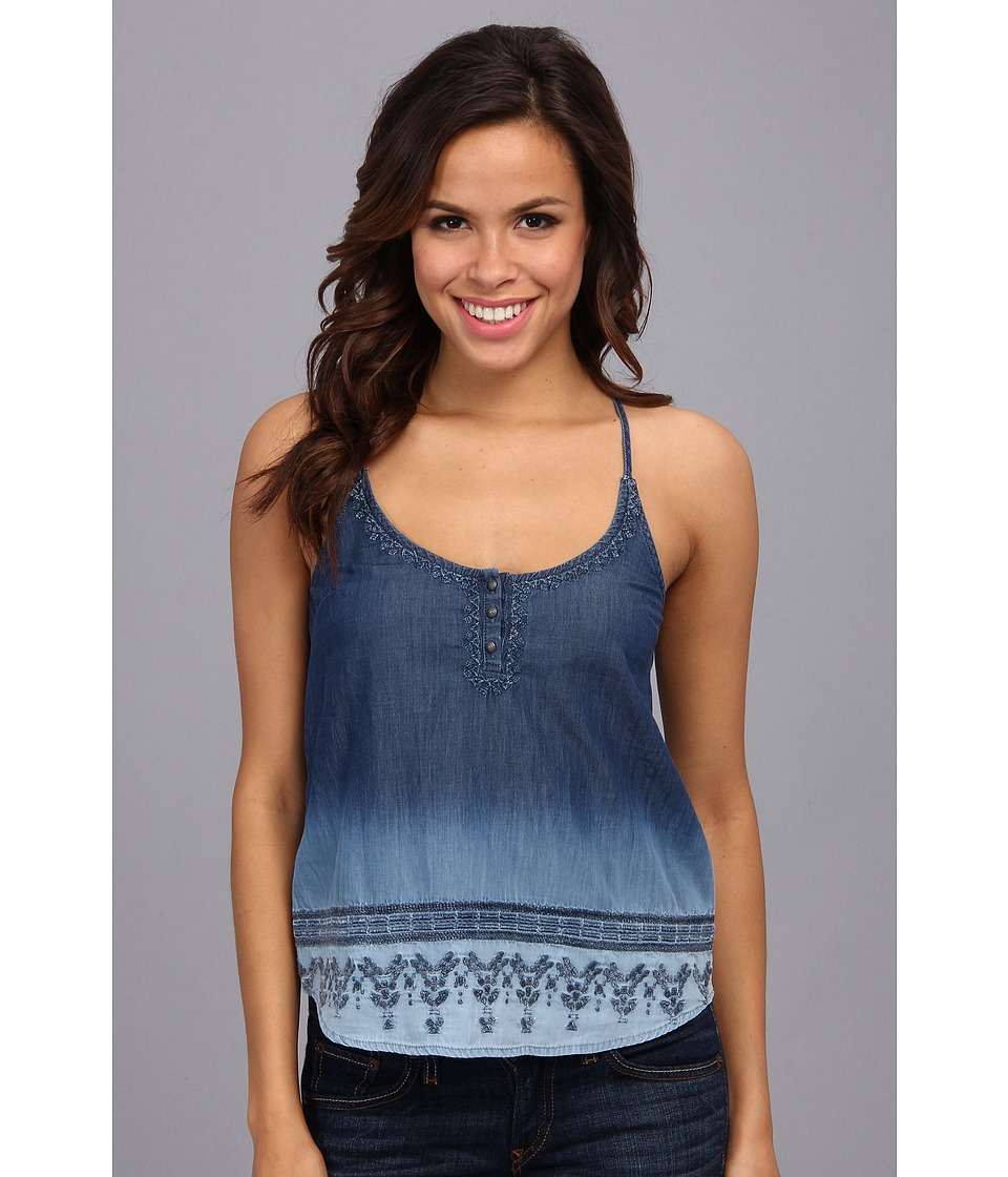Lucky Brand - Indigo Halter Tank (Blue Multi) Women's Sleeveless