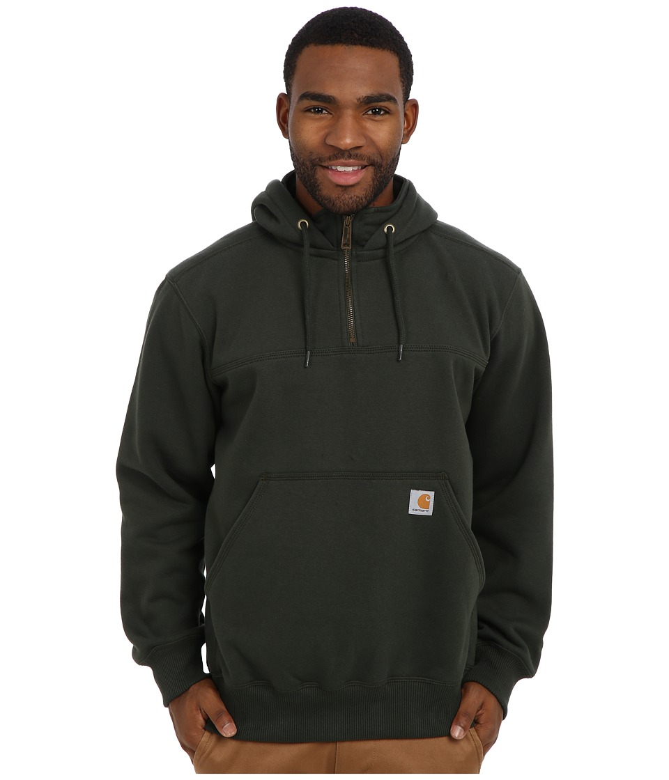 Carhartt - RD Paxton HW Hdd Zip Mock Sweatshirt (Dark Green) Men's Sweatshirt
