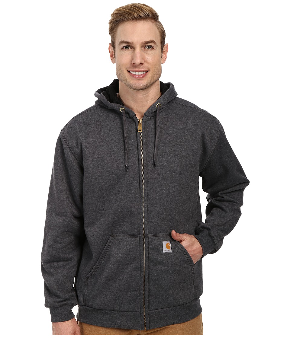 Carhartt - RD Rutland Thermal-Lined Hooded Zip-Front Sweatshirt (Carbon Heather) Men's Sweatshirt