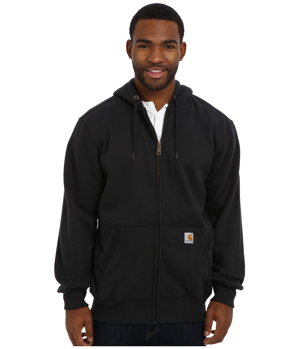Carhartt - Rain Defender Paxton Heavy Weight Hooded Zip-Front Sweatshirt (Black) Men's Sweatshirt